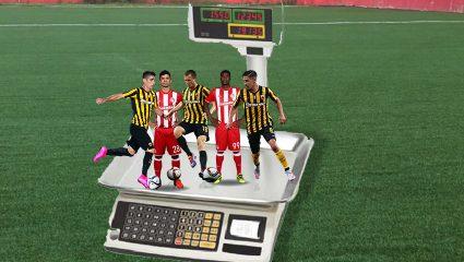 Πώς θα ήταν 10 παίκτες του Ολυμπιακού και της ΑΕΚ αν είχαν τα κιλά του Ραμπεσαντρατανά
