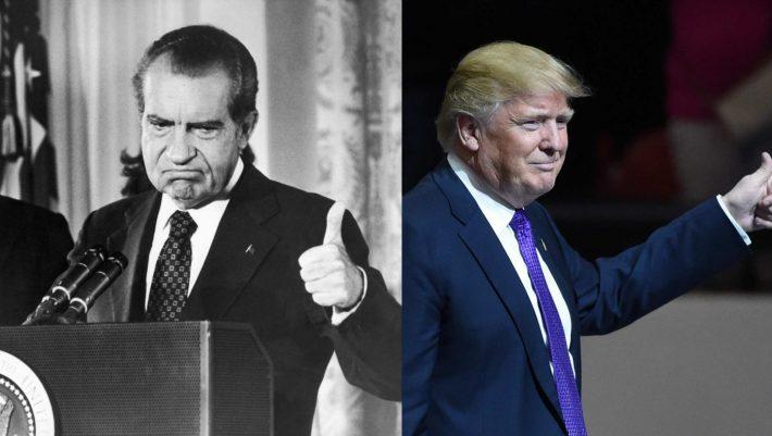 Τραμπ, Φλιν, Γιέιτς, Τζέιμς Κόμι και στο βάθος...Νίξον: Όλοι οι άνθρωποι του προέδρου
