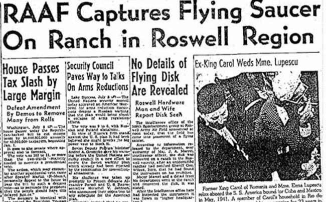 Νεκροψία στον εξωγήινο του Ρόσγουελ: Κάτι περισσότερο από ένας μύθος