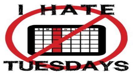 Γιατί η Τρίτη είναι η χειρότερη μέρα της εβδομάδας