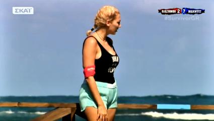 Η Σπυροπούλου «εξαφανίζει» με συνοπτικές διαδικασίες την παίκτρια των «Μαχητών» που την κορόιδεψε για τα κιλά της στο χθεσινό φινάλε