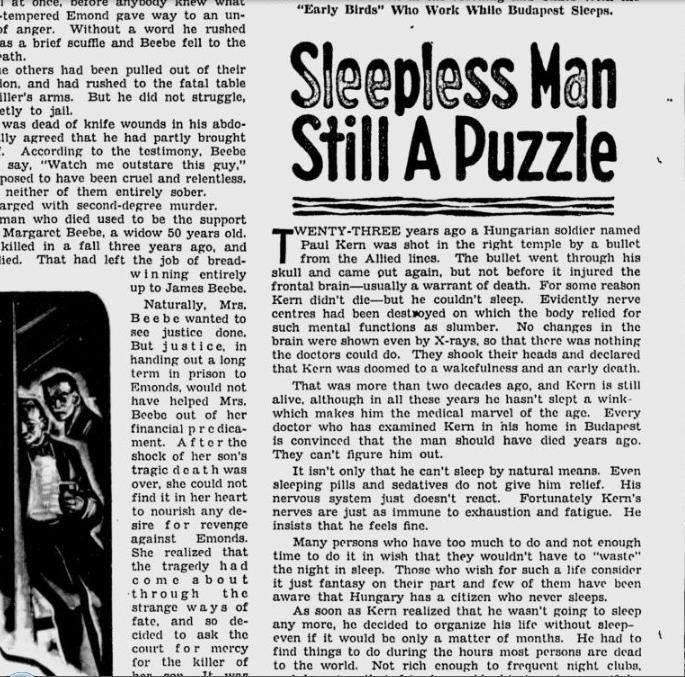 Πέρα από τα όρια του νου: Ο άνθρωπος που δεν κοιμήθηκε ούτε λεπτό για 40 χρόνια
