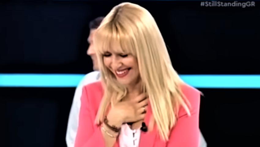 Ένας Θεούλης στο πλατώ της Μπεκατώρου: Δεν μπορούσαν να μείνουν όρθιοι απ' τα γέλια παίκτες και παρουσιάστρια με την ατάκα του (Vid)