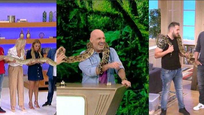 Στο GNTM και στον ΣΚΑΪ θεωρούν τα φίδια παιχνιδάκι τους και δεν ντρέπονται γι΄αυτό